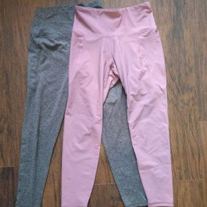 2 Leggings by Kyodan and Old navy Active!
